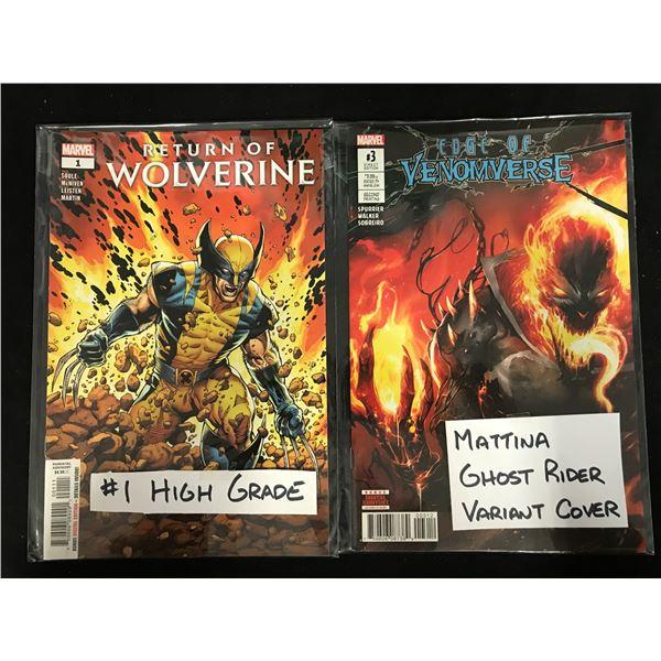 RETURN OF WOLVERINE #1/ EDGE OF VENOMVERSE #3 (MARVEL COMICS)