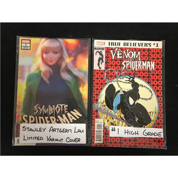 SYMBIOTE SPIDER-MAN#1 & VENOM vs. SPIDER-MAN #1 (MARVEL)