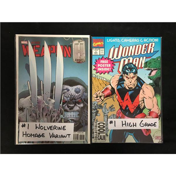 WOLVERINE #1 (HOMAGE VARIANT) & WONDER WOMAN #1 (MARVEL COMICS)