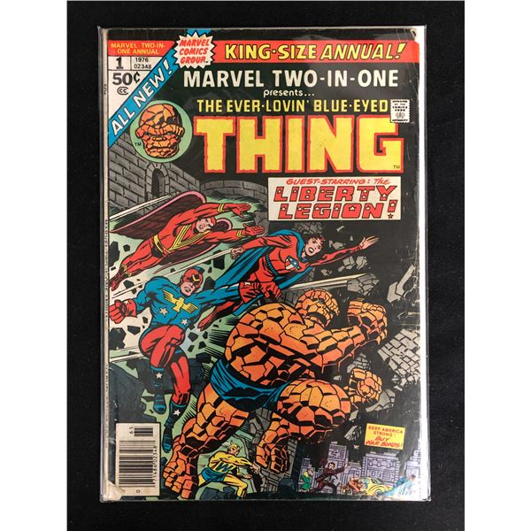 MARVEL TWO-IN-ONE #1 (MARVEL COMICS) King-Size Annual!