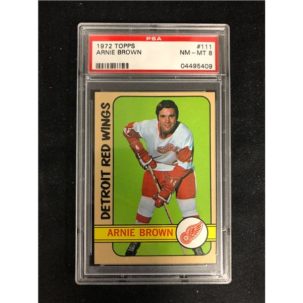 1972 TOPPS #111 ARNIE BROWN (NM-MT 8)