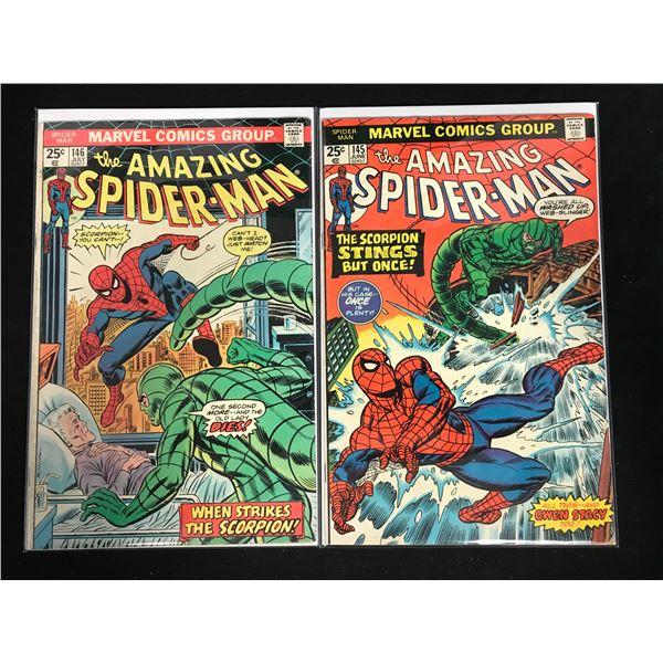 THE AMAZING SPIDER-MAN #145-146 (MARVEL COMICS)