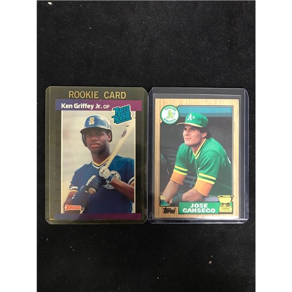 BASEBALL ROOKIE CARD LOT (GRIFFEY JR./ CANSECO)