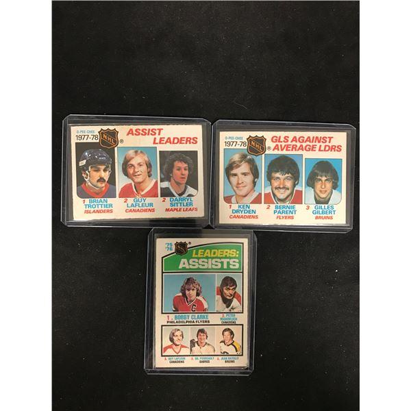 VINTAGE NHL LEADERS HOCKEY CARD LOT