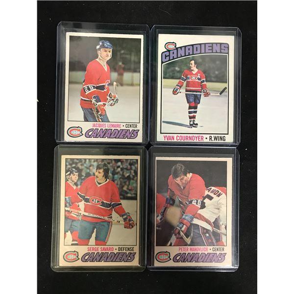 VINTAGE MONTREAL CANADIENS HOCKEY CARD LOT