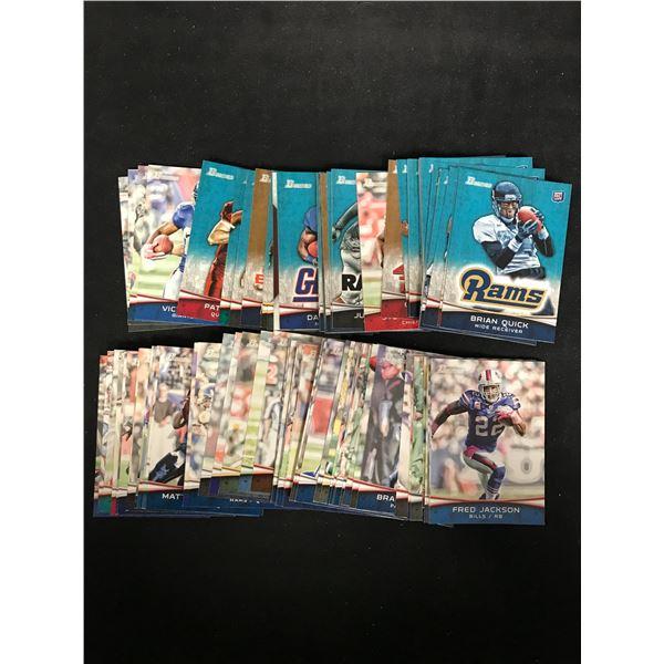 2012 BOWMAN FOOTBALL CARD LOT