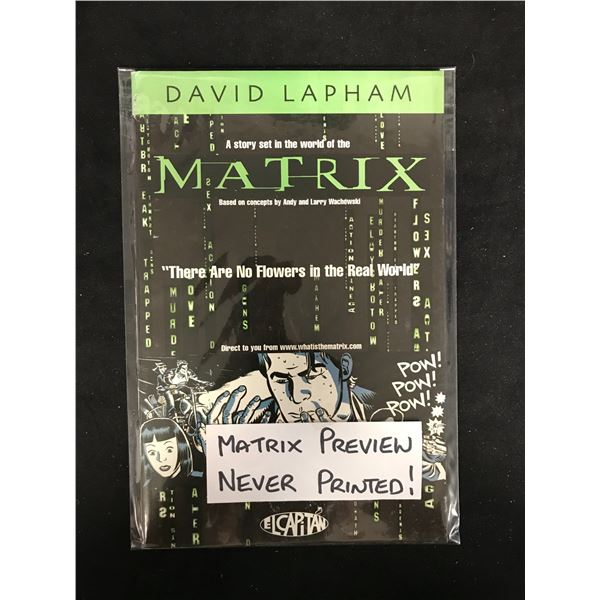 MATRIX PREVIEW by David Lapham *Never Printed!*