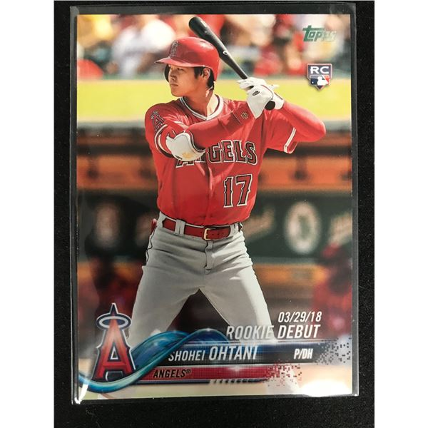 2018 Topps Update Shohei Ohtani RC US285 Rookie Debut