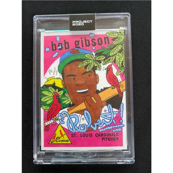 PROJECT 2020 BASEBALL CARD #84 BOB GIBSON (ORIGINAL CARD 1959 TOPPS #514)