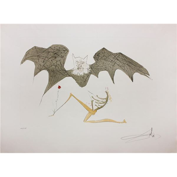 "Salvador Dali- Original Engravings  ""L'Ange de la Melancolie"""