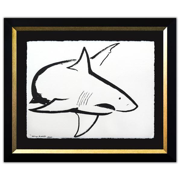 "Wyland- Original Sumi Ink Painting ""Shark"""