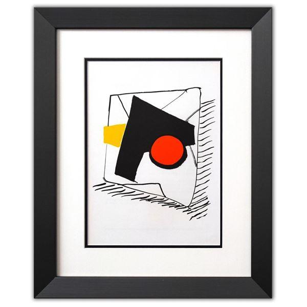 """Alexander Calder- Lithograph """"DLM221 - Composition geometrique"""""""