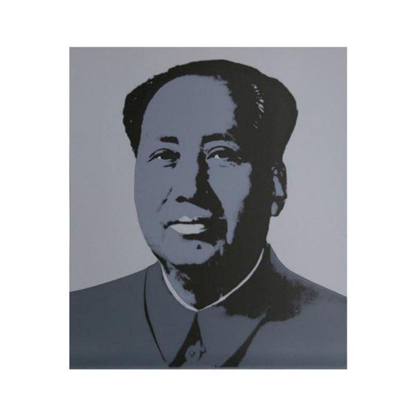 "Andy Warhol ""Mao Grey"" Silk Screen Print from Sunday B Morning."