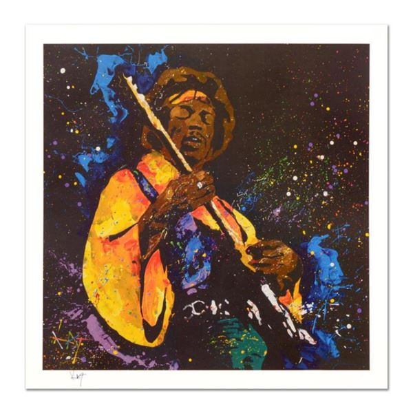 """KAT, """"Hendrix"""" Limited Edition Lithograph, Numbered and Hand Signed with Certificate of Authenticity"""