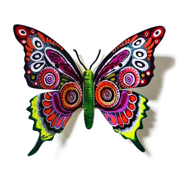 "Patricia Govezensky- Original Painting on Cutout Steel ""Butterfly CXXXIX"""