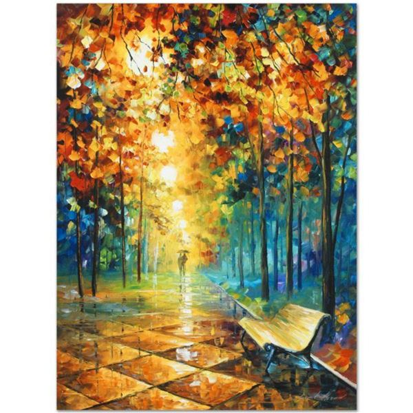"""Leonid Afremov (1955-2019) """"Misty Park"""" Limited Edition Giclee on Canvas, Numbered and Signed. This"""
