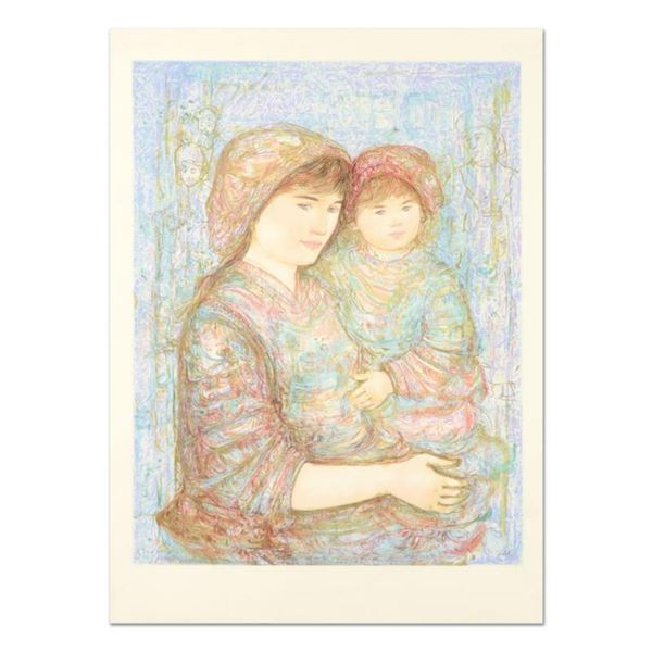 """Edna Hibel (1917-2014), """"Naomi"""" Limited Edition Lithograph, Numbered and Hand Signed with Certificat"""