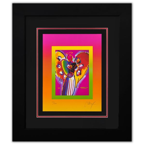 """Peter Max- Original Lithograph """"Angel with Hearts on Blends II"""""""