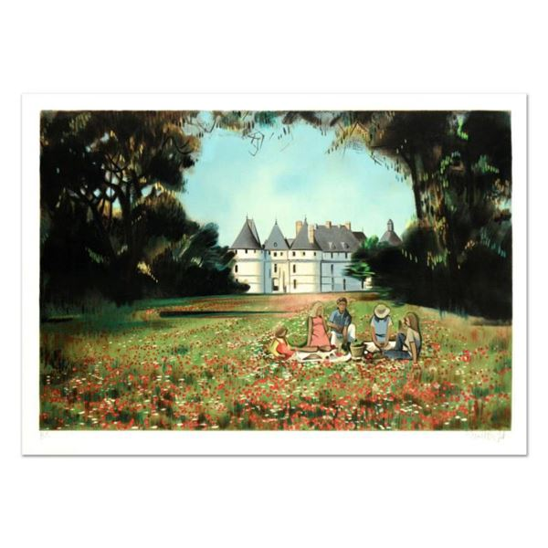 """Robert Vernet Bonfort, """"The Picnic"""" Limited Edition Lithograph, Numbered and Hand Signed."""