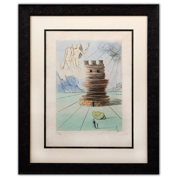 """Salvador Dali- Original Lithograph """"Simon (From Twelve Tribes of Israel Suite)"""""""