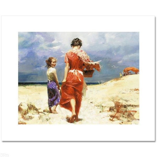 """""""Summer Retreat"""" Limited Edition Artist-Embellished Giclee on Canvas by Pino (1939-2010). AP Numbere"""