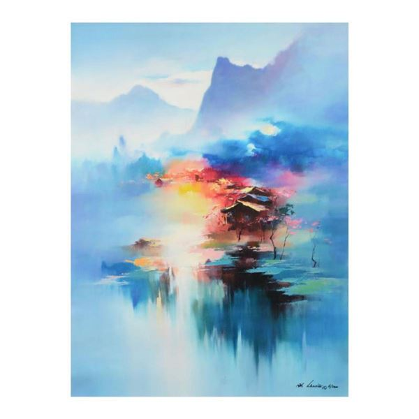 """H. Leung, """"Twilight Mist II"""" Limited Edition on Canvas, Numbered and Hand Signed with Letter of Auth"""