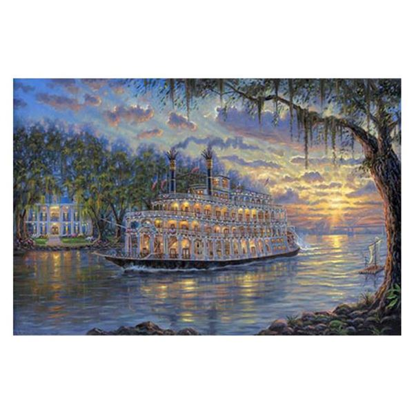 """Robert Finale, """"Sunset Over Memphis"""" Hand Signed, Artist Embellished AP Limited Edition on Canvas wi"""