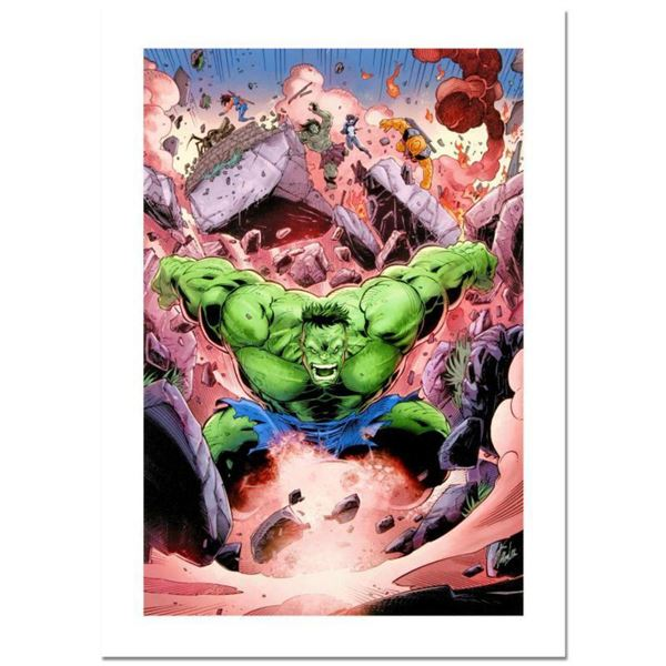 """Stan Lee Signed, """"Skaar: Son of Hulk #11"""" Numbered Marvel Comics Limited Edition Canvas by Ron Lim w"""