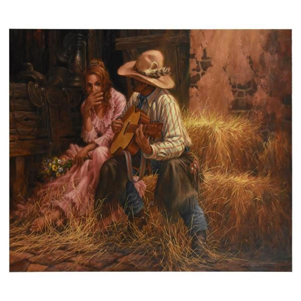 """Larry Fanning, """"The Boss' Daughter"""" Limited Edition on Canvas, AP Numbered and Hand Signed with Lett"""