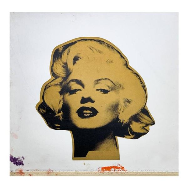 """Steve Kaufman (1960-2010) """"Marilyn Monroe"""" Hand Signed and Numbered Limited Edition Hand Pulled silk"""