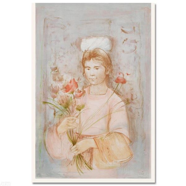 """""""Mayan Princess"""" Limited Edition Lithograph (30"""" x 41.5) by Edna Hibel (1917-2014), Numbered and Han"""