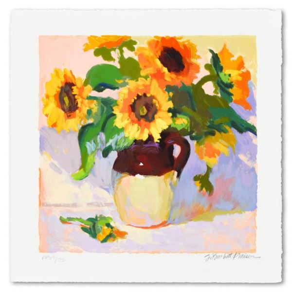 """S. Burkett Kaiser, """"Sunflowers"""" Limited Edition, Numbered and Hand Signed with Letter of Authenticit"""
