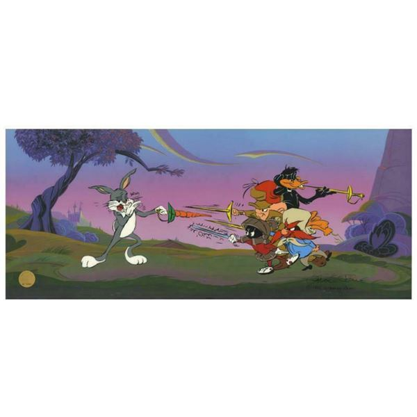 """Chuck Jones """"Foiled Again"""" Hand Signed, Hand Painted Limited Edition Sericel."""