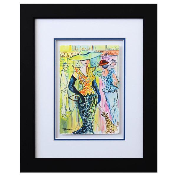 "Patricia Govezensky- Original Watercolor ""Sunny Day in Amsterdam"""