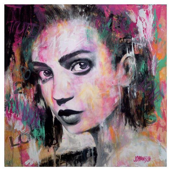 "Jay Johansen, ""Urban Reflection"" Hand Signed Original Painting on Canvas with COA."