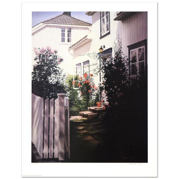 """Barbara Buer, """"Garden Gate"""" Limited Edition Lithograph, Numbered and Hand Signed."""