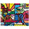 """Romero Britto """"New Squeaki Van Britto"""" Hand Signed Giclee on Canvas; Authenticated"""