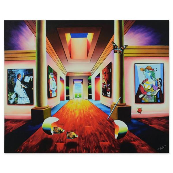 """Ferjo, """"Hallway of Grandeur"""" Limited Edition on Gallery Wrapped Canvas, Numbered and Signed with Let"""