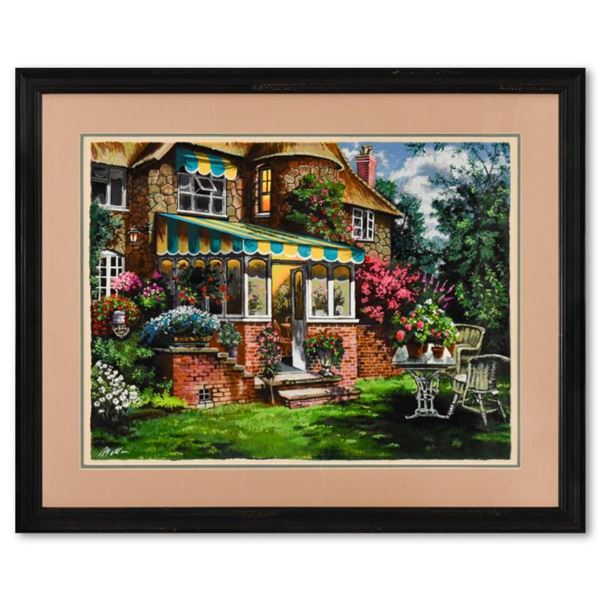 """Anatoly Metlan, """"Greenhouse"""" Framed Limited Edition Serigraph, Numbered 232/480 and Hand Signed with"""