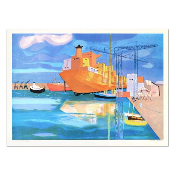 """Georges Lambert (1919-1998), """"Brest"""" Limited Edition Lithograph, Numbered and Hand Signed."""