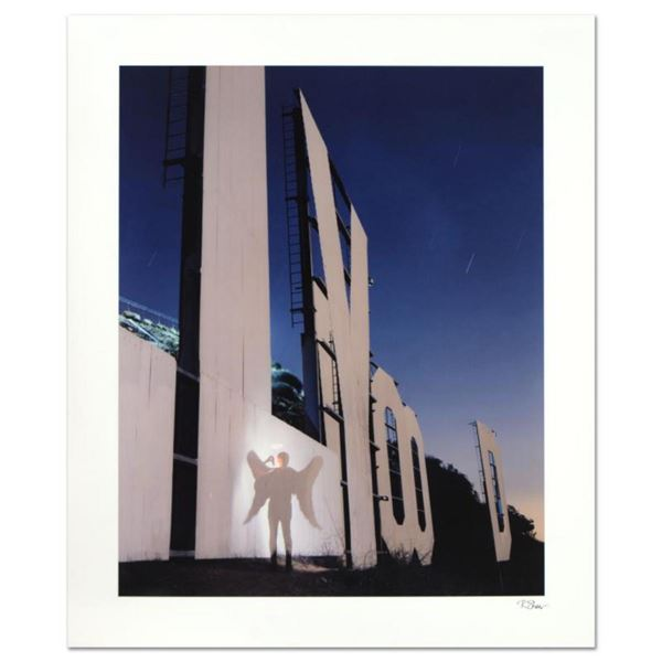 """Robert Sheer, """"The Agent Angel at the Hollywood Sign"""" Limited Edition Single Exposure Photograph, Nu"""