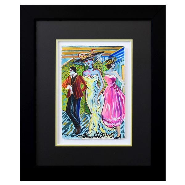 Patricia Govezensky- Original Watercolor  Friends Forever