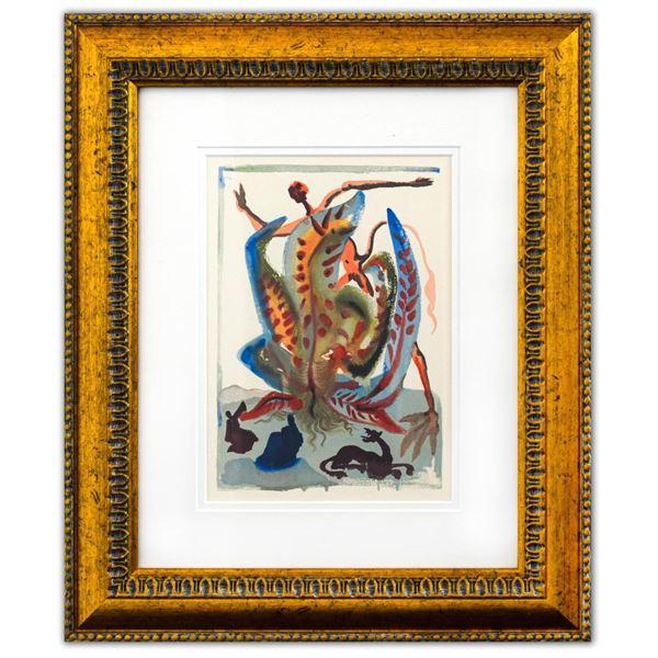 "Salvador Dali- Original Color Woodcut on B.F.K. Rives Paper ""Purgatory 23"""