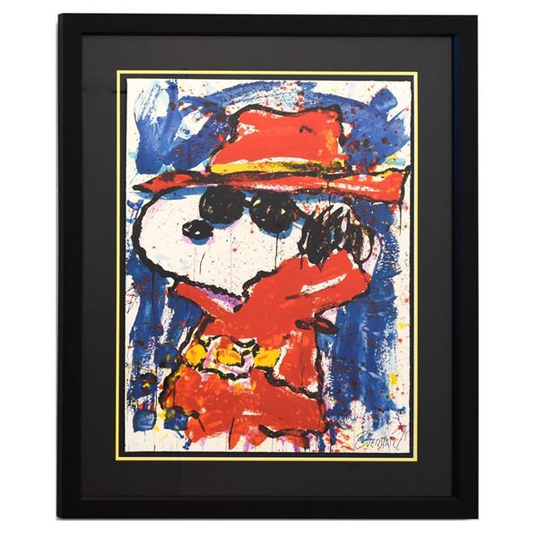 """Tom Everhart- Hand Pulled Original Lithograph """"Undercover In Hollywood"""""""