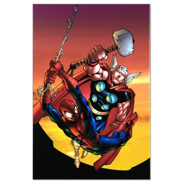 """Marvel Comics """"Marvel Age Spider-Man Team Up #4"""" Numbered Limited Edition Giclee on Canvas by Randy"""