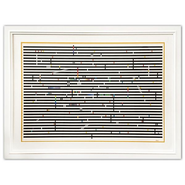 """Yaacov Agam- Original Screenprint in colors on Arches paper """"Double Metamorphosis IV"""""""
