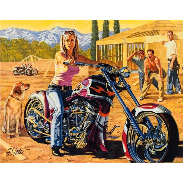 """Robert Tate- Original Giclee on Canvas """"Taking A Breather"""""""