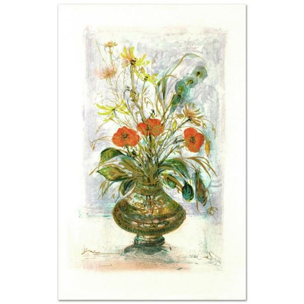 """""""Amapola"""" Limited Edition Lithograph by Edna Hibel (1917-2014), Numbered and Hand Signed with Certif"""