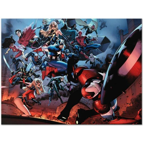"""Marvel Comics """"Siege #3"""" Numbered Limited Edition Giclee on Canvas by Oliver Coipel with COA."""