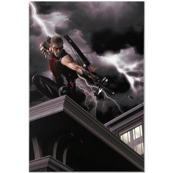 """Marvel Comics """"Ultimate Hawkeye #2"""" Numbered Limited Edition Giclee on Canvas by Kaare Andrews with"""